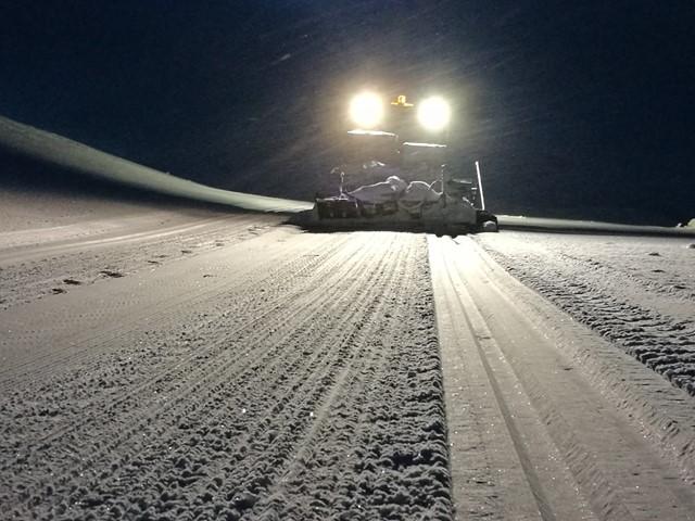 Snøen laver ned til vår glede...