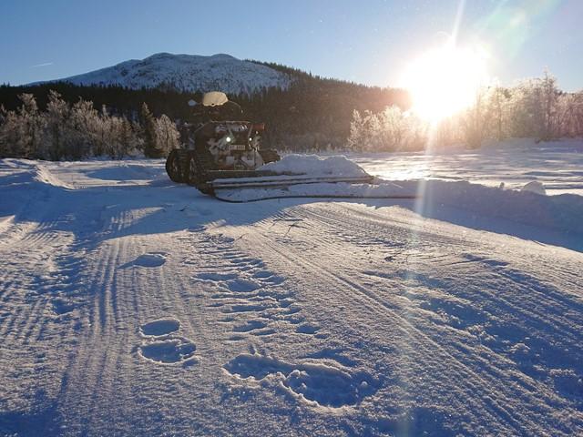 Vi vil fortsette og pakke snø resten av uka