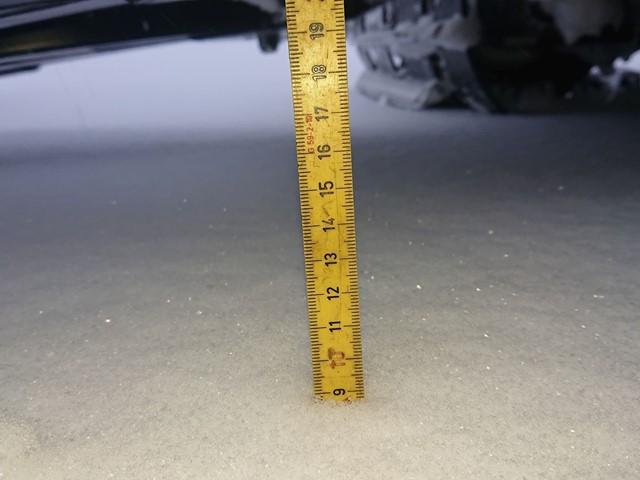 Det har kommet ca 10 cm med snø siste døgn