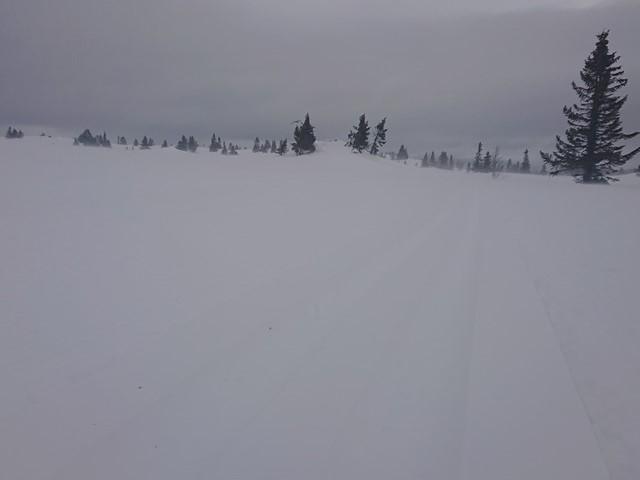 Etter et døgn med tett snøvær blir løypenettet kjørt opp fredag morgen